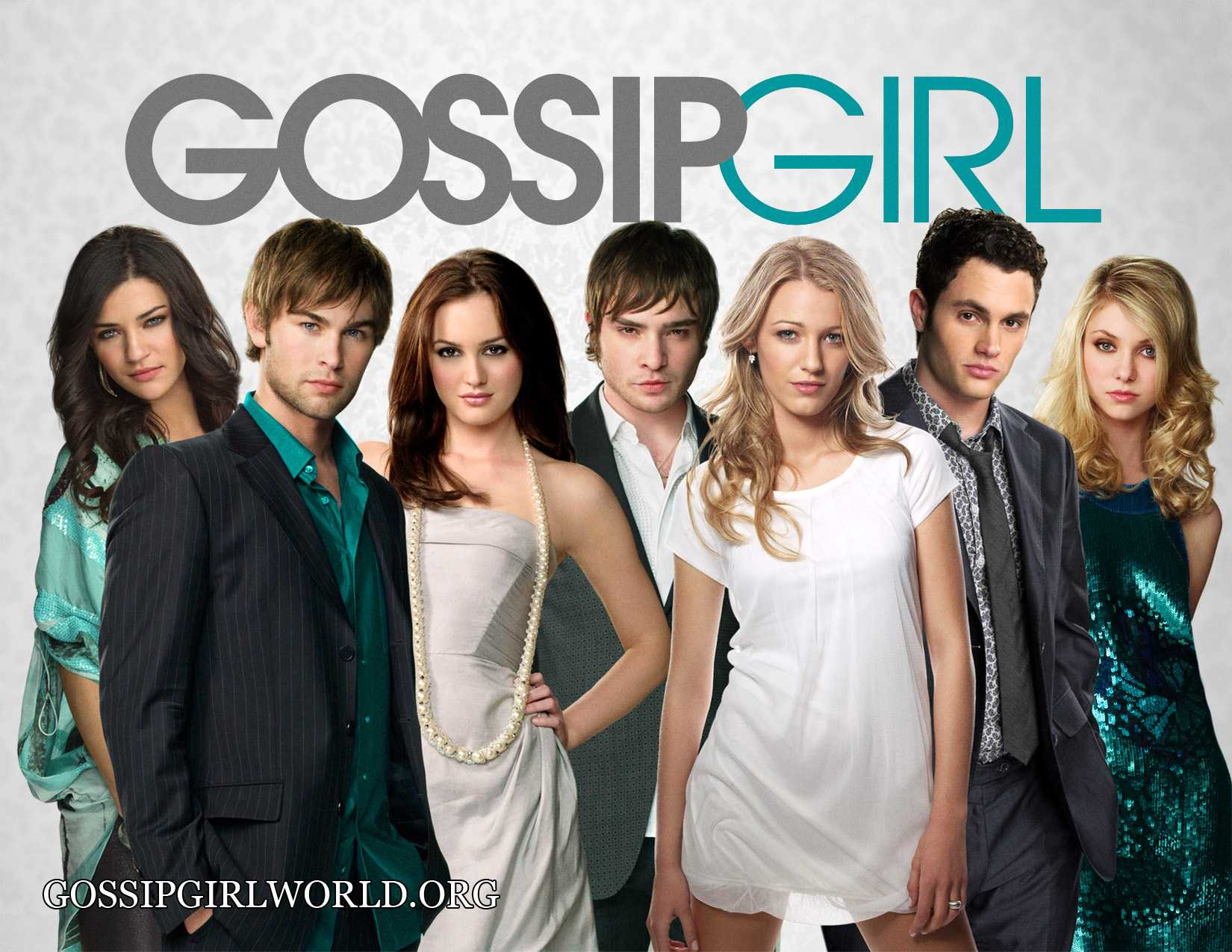 Gossip Girl Cast In Grey Green Theme