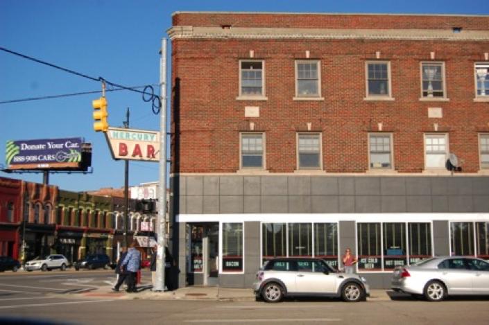 Mercury Burger Bar located on Michigan Ave. in historic Corktown Detroit
