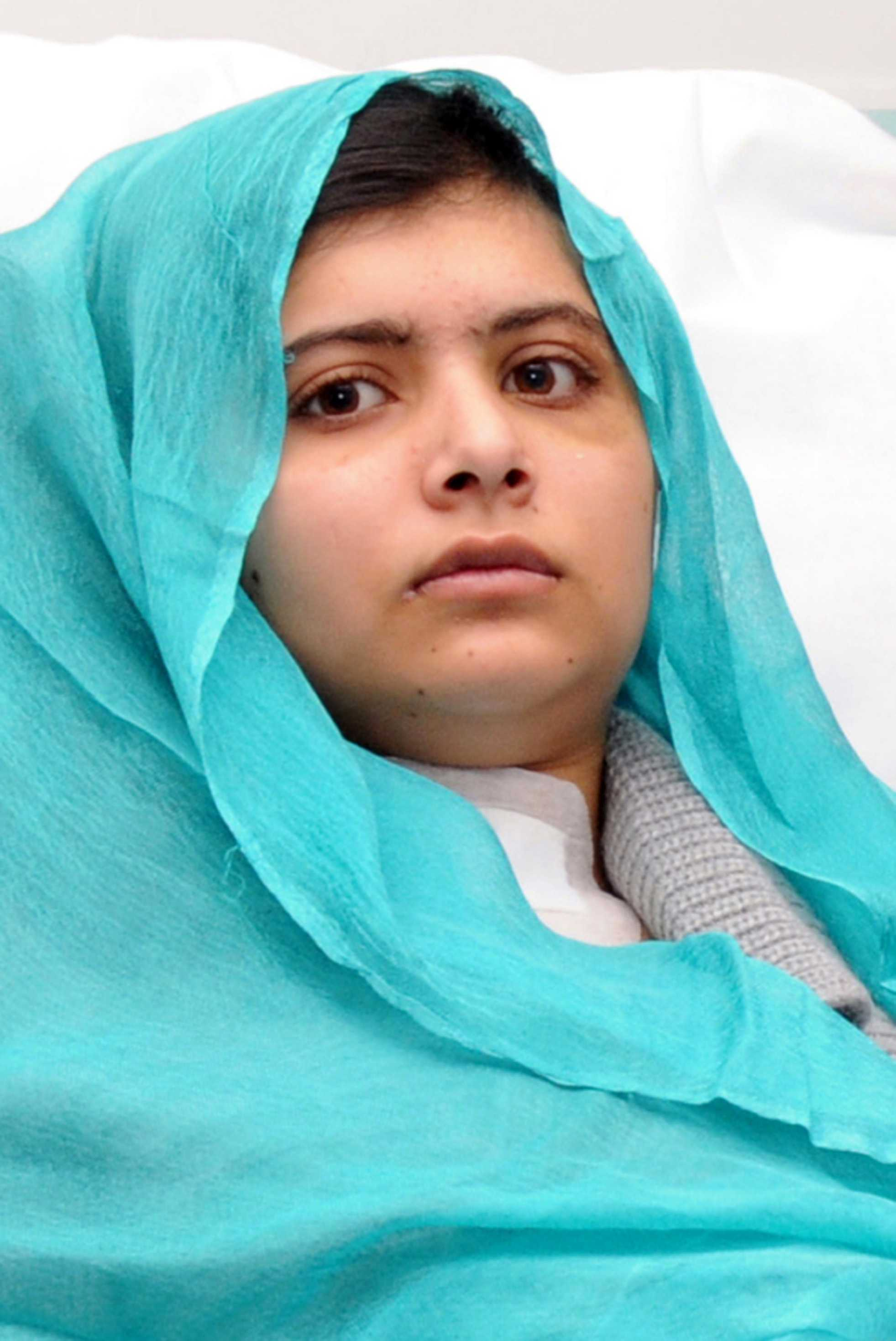 Malala Yousafzai underwent extensive surgery at Queen Elizabeth Hospital in Birmingham, London last year after she was shot point-blank in the head and neck. Yousafzai is the youngest nominee in history for the Nobel Peace Prize.  Photo Credit: MTC Wire