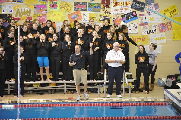 Mercy swimmers and divers won the Catholic League Championship scoring  674  points.  Reprinted with permission from Melissa Kargul.