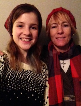 Rue poses with her mother after a day of shopping in Toronto on Thanksgiving Day.