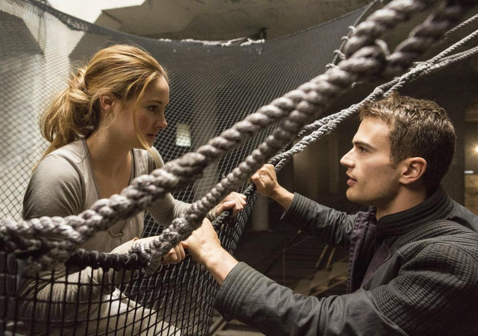 Shailene Woodley stars opposite relative newcomer, Theo James, in the first installment of the captivating Divergent trilogy.  Fair Use: MCT Wire Service