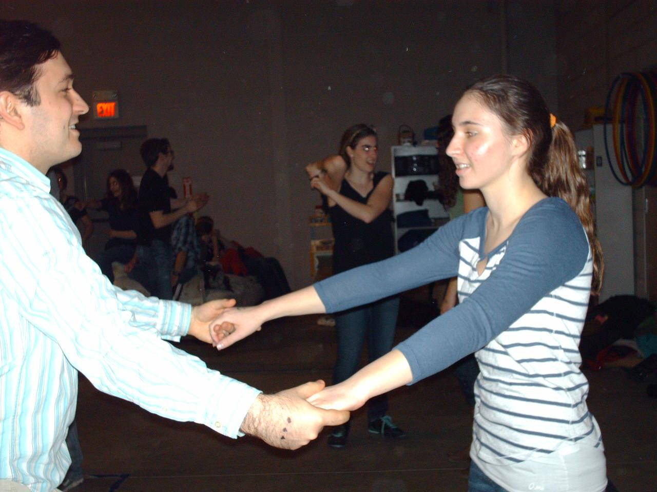 Junior Madeline Bresson enjoys learning new swing dance steps at the Farmington Swinginfusion location.