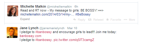 "Michelle Malkin and Jane Lynch, who are both well-known in society, have different takes on the ""Let's Ban Bossy"" campaign"
