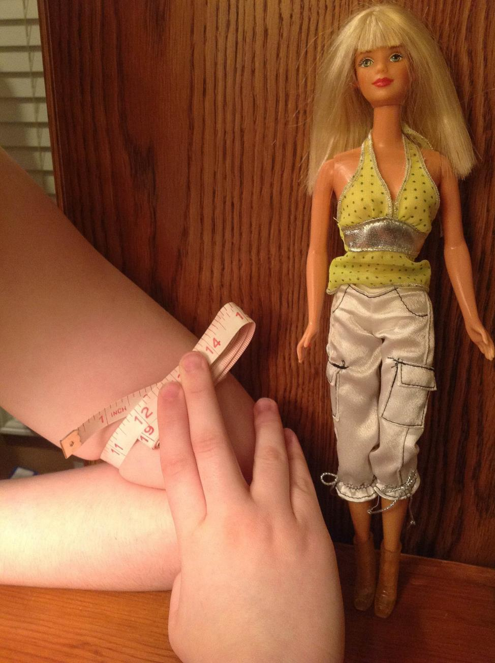 The Barbie doll, with its unrealistic proportions, has been accused of promoting harmful body-image stereotypes among girls.